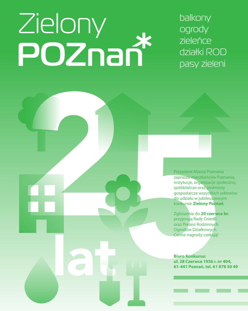 """XXV edycja konkursu """"Zielony Poznań"""""""
